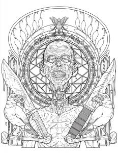 Zombie-Art-NouveauColoringPage